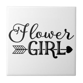 Flower Girl, Tribe Arrow, Wedding Party Tile