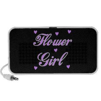Flower Girl Wedding Hearts Portable Speakers