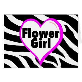 Flower Girl (Zebra Print) Card