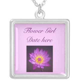 Flower Girls Necklace - Purple Lotus Flower