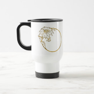 Flower Gold Ring Portrait Photo ifts 15 Oz Stainless Steel Travel Mug