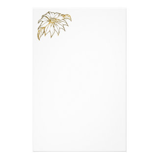 Flower Gold Ring Portrait Photo ifts Customized Stationery