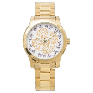 Flower Gold Watch