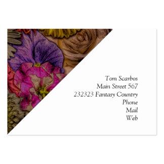 flower greetings, vintage look business card template