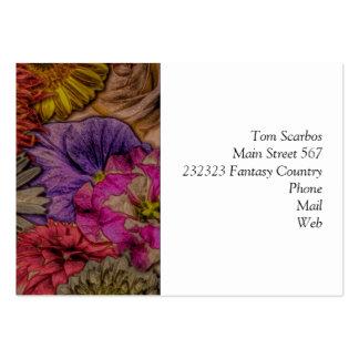flower greetings, vintage look business cards