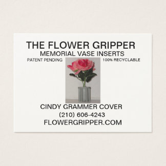Flower Gripper Resized Back Business Card