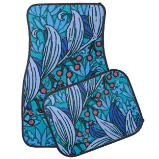 Flower Hand Crafted Floral Decor Car Mat