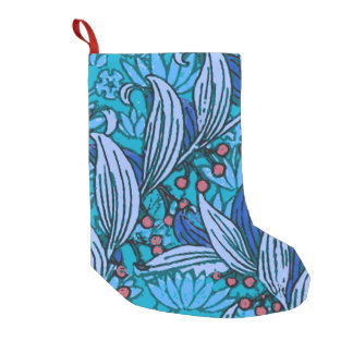 Flower Hand Crafted Floral Decor Small Christmas Stocking