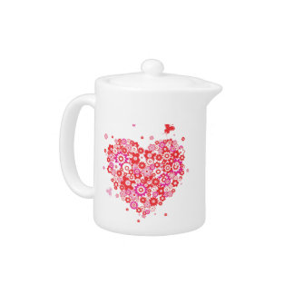 Flower Heart 1 Teapot