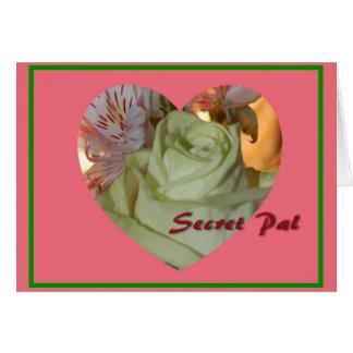 Flower Heart Secret Pal Valentine s Day Card