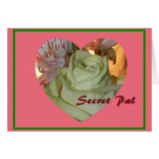 Flower Heart Secret Pal Valentine's Day Card