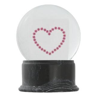 Flower Heart Snow Globe