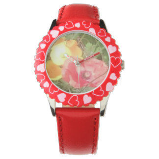 Flower & Hearts Watch Red, but u can choose colour