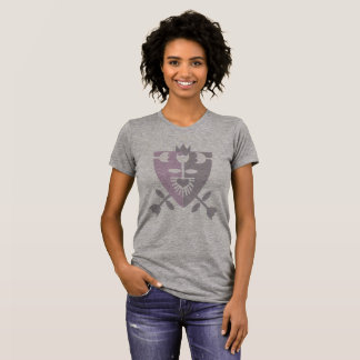 FLOWER HERALDRY women's t-shirt pink and grey