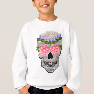 Flower Hipster Day of the Dead Skull Sweatshirt