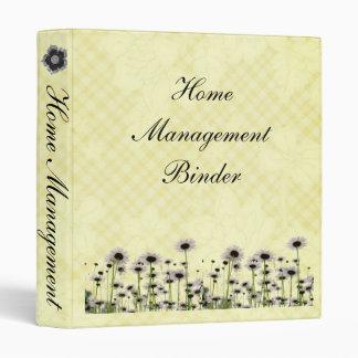 Flower Home Management Binder