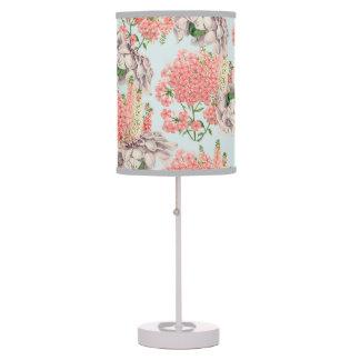 Flower, hortensias pink gardenias details celestia table lamp