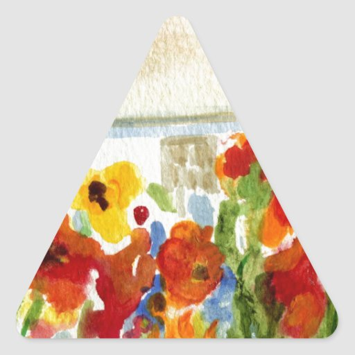 Flower House Sticker