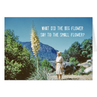 Flower Humour Card