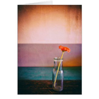 Flower in a bottle card