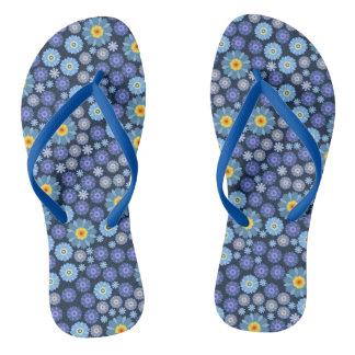 Flower in Blue Flip Flops
