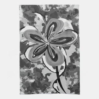 Flower in Camouflage Kitchen Towel