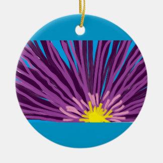 Flower in Oil Ceramic Ornament