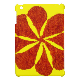 flower in red cover for the iPad mini