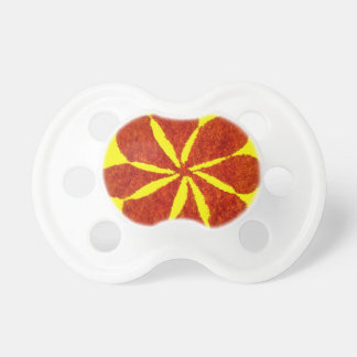 flower in red pacifiers
