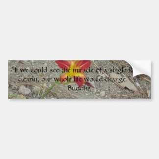 flower in rock bumper sticker