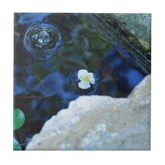 Flower in water ceramic tile