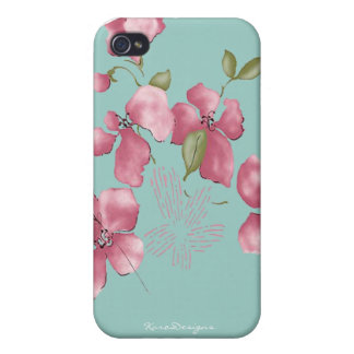 Flower Iphone 4s hard case -Mate Case For iPhone 4