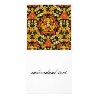 flower kaleido custom photo card