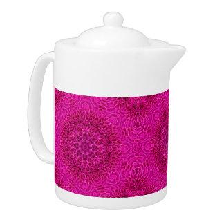 Flower  Kaleidoscope Pattern   Teapots