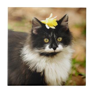 Flower Kitten Tile