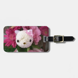 Flower Kitty Luggage Tag