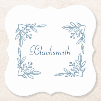 Flower Last Name Coasters