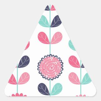 Flower leafs triangle sticker