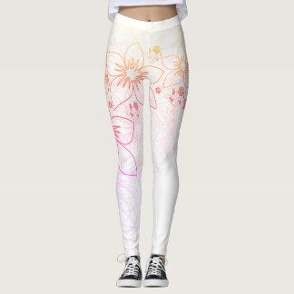 Flower leggings. leggings