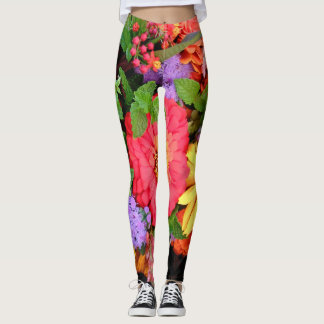 Flower Leggings Running Pants Jogging Tights