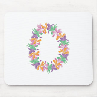 Flower Lei Mouse Pad