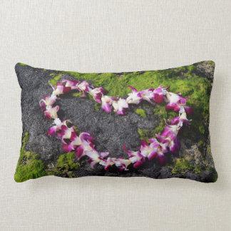 Flower Lei on the Rocks Lumbar Pillow