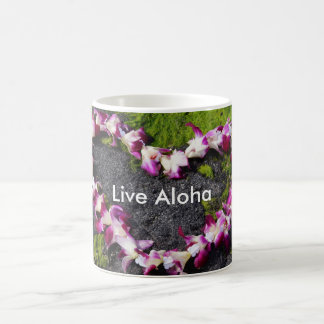 Flower Lei with Live Aloha Coffee Mug