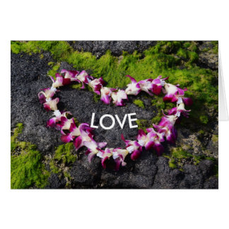 Flower Lei with Love Card