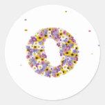 Flower letter O Sticker