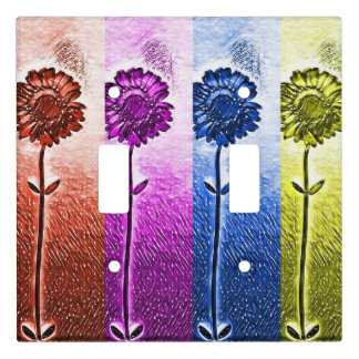 Flower light switch cover
