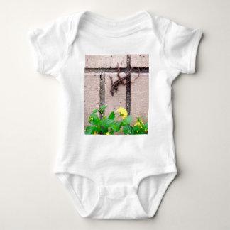 FLOWER LIZARD BABY BODYSUIT