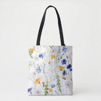 Flower love [color-water] tote bag
