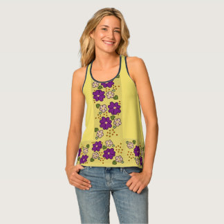 FLOWER LOVE TANK TOP, Cocuyo Arts