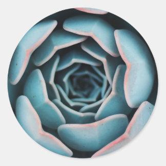 Flower Macro Close-Up Amazing Unisex Floral Print Classic Round Sticker